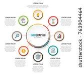 business data visualization.... | Shutterstock .eps vector #763904464