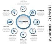 business 8 step process chart... | Shutterstock .eps vector #763904584