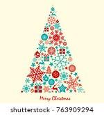 christmas background great... | Shutterstock .eps vector #763909294