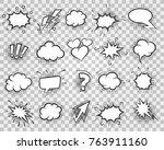 comic elements. cartoon sketch... | Shutterstock .eps vector #763911160