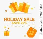 holiday sale banner design | Shutterstock .eps vector #763915348