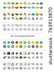 set of icons in different style ... | Shutterstock .eps vector #763915870