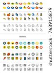 set of icons in different style ...   Shutterstock .eps vector #763915879