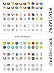 set of icons in different style ... | Shutterstock .eps vector #763915906