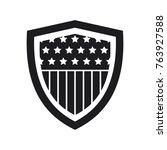 vector shield icon  flat design ... | Shutterstock .eps vector #763927588