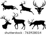 reindeer christmas isolated...   Shutterstock .eps vector #763928014