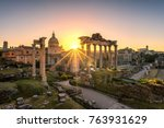 Ruins Of Roman\'s Forum At...