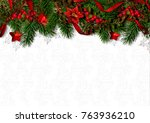 christmas background with... | Shutterstock . vector #763936210
