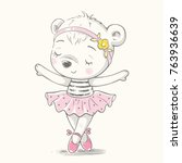 Cute Dancing Bear Ballerina...