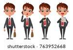 business man cartoon vector | Shutterstock .eps vector #763952668