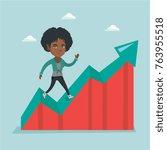 african american successful... | Shutterstock .eps vector #763955518