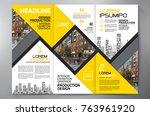 business brochure. flyer design.... | Shutterstock .eps vector #763961920