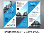 business brochure. flyer design.... | Shutterstock .eps vector #763961923