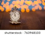 new year 2018 concepts... | Shutterstock . vector #763968103