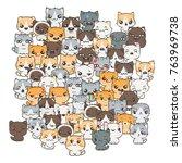 raster pattern for print....   Shutterstock . vector #763969738