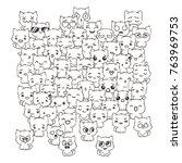 raster pattern for print.... | Shutterstock . vector #763969753