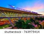 bangkok june 2  suvarnabhumi...   Shutterstock . vector #763975414