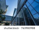 bottom view of modern... | Shutterstock . vector #763983988