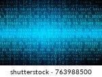 binary circuit board future...   Shutterstock .eps vector #763988500