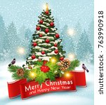 vector illustration for merry...   Shutterstock .eps vector #763990918