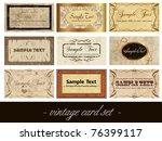 vintage card set | Shutterstock .eps vector #76399117