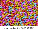 Colorful Foam ball texture background