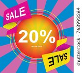 20  special offer sale tag.... | Shutterstock .eps vector #763993264