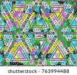ethnic animal design. striped... | Shutterstock . vector #763994488