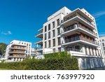 modern white multi family... | Shutterstock . vector #763997920