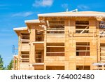new apartment building under... | Shutterstock . vector #764002480
