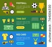 cartoon soccer sport game... | Shutterstock .eps vector #764006530