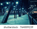 chicago city vintage river... | Shutterstock . vector #764009239