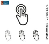 touch   outline icon on white...   Shutterstock .eps vector #764011378