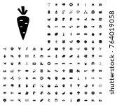 carrot icon illustration... | Shutterstock .eps vector #764019058