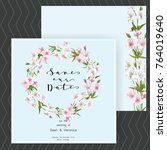 save the date card  wedding... | Shutterstock .eps vector #764019640