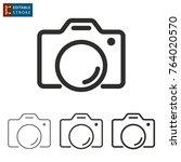 photo   outline icon on white...   Shutterstock .eps vector #764020570