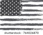 grunge american flag. | Shutterstock .eps vector #764026870