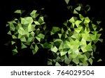 light green vector polygonal... | Shutterstock .eps vector #764029504