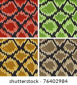 Set of snake skin patterns for design or ornate. Jpeg version also available in gallery