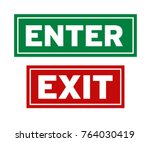 enter and exit sign | Shutterstock .eps vector #764030419