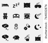 set of sleep vector icons.   Shutterstock .eps vector #764032876
