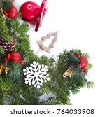 christmas background with a... | Shutterstock . vector #764033908