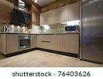 interior of modern kitchen | Shutterstock . vector #76403626