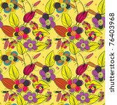floral seamless pattern | Shutterstock .eps vector #76403968