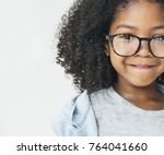 girls with glasses | Shutterstock . vector #764041660
