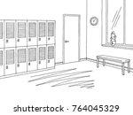 school corridor lobby graphic...   Shutterstock .eps vector #764045329