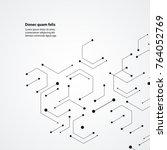 molecular structure pattern... | Shutterstock .eps vector #764052769
