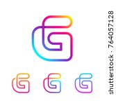 abstract letter g line monogram ... | Shutterstock .eps vector #764057128