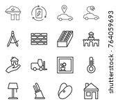 thin line icon set   factory...   Shutterstock .eps vector #764059693