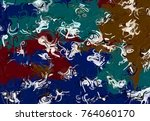 abstract art texture. colorful... | Shutterstock . vector #764060170